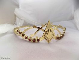 'Morning Mist', handmade brass circlet by seralune