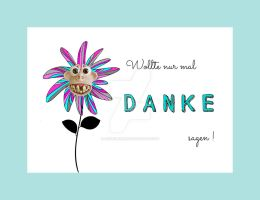 Danke - Thank you Postcard by ConniBerlin