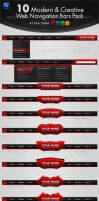 10 Modern and Creative Web Navigation Bars Pack by behzadblack