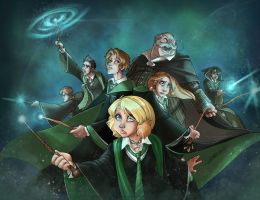 Slytherin Reinforcements - coloured by DionysiaJones