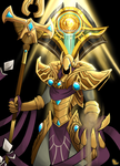 Lol: Azir the emperor of the sands by Mikkynga