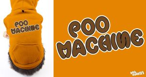 Poo Machine Dog Hoodie by scox1313