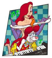 Roger and Jessica Rabbit playing... piano! by Christo-LHiver