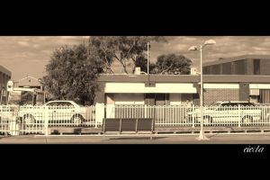 Wollongong Statn Street Sepia by dsx001