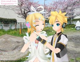 Rin and Len ... Hugging (?) by Juliani27