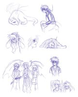 Fae's story sketches by Iciclefobbit