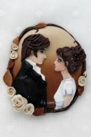 Pride and prejudice brooch by Jacarandahm