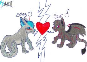 Scar + Silvy = LUVE by ChrystalStarWolf