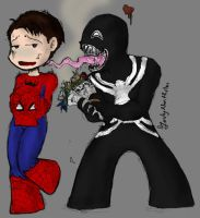 Venom and Spidey by LadyNorthstar