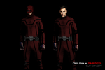 DAREDEVIL SUIT CONCEPT - Chris Pine by MrSteiners
