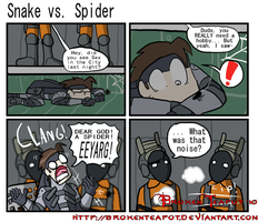 Snake vs. Spider by BrokenTeapot