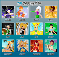 2012 Summary of Art by MissPerfect218