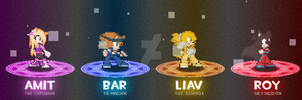 sprite showcase - bar, amit, roy and liav by Bar-Kun