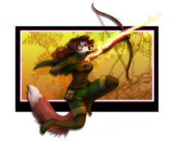 Commission: Ranger Diana on the Hunt 2014 by frisket17