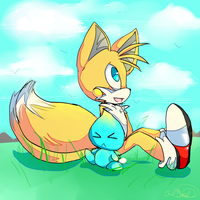 Tails and Chao by WendySakana