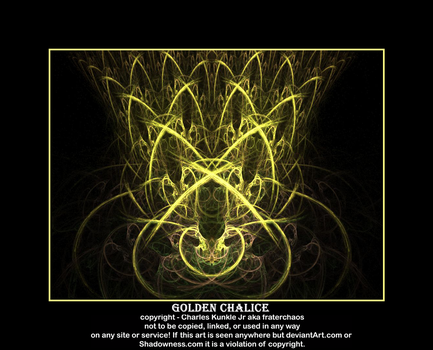 golden chalice by fraterchaos