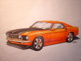 Orange 1969 Mustang by FordTruckKY87