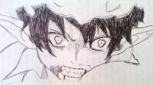 Ao no exorcist by nevergiveup1