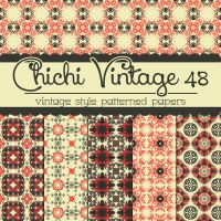 Free Chichi Vintage 48 Patterned Papers by TeacherYanie