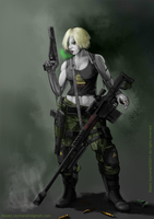 Eliza Carter - Mercenary,Bounty Hunter by Buashei