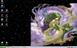 Summoner Rydia Desktop by Mykoto