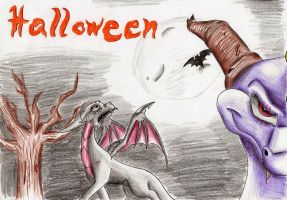 Halloween comes to you again.. by IcelectricSpyro