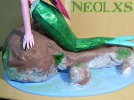 Ariel Mermaid Papercraft 8 by Neolxs