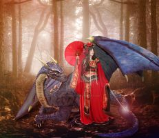 The Princess and the Dragon by marcinha-jp