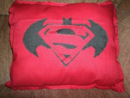 World's Finest Logo Pillow by SeeOrSeem
