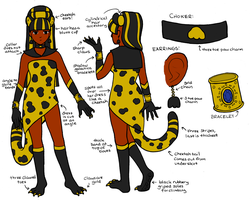 Sailor Golden Cheetah - Reference Sheet by sakkysa