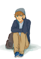 Waiting at the train station by Rhaylee