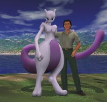 Mewtwo and me 3D by myuutsuCMCE