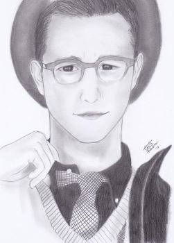 Potrait: Joseph Gordon Levitt by Vespa-kid