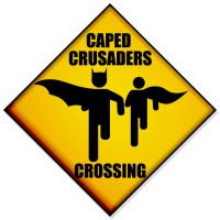 Caped crusaders Crossing by fraser0206
