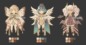 Adoptable 02 : wings set [CLOSED] by Pearlgraygallery