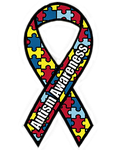 Autistic Awareness Ribbon by Obsidian-Siren