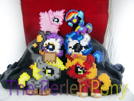My Little Pony 2013 Halloween Silly Fillies by Perler-Pony