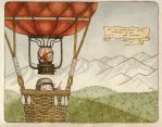 Bo's history: Bo flying by a balloon. by mirt