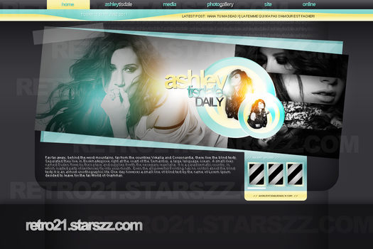 Ashley Tisdale Layout by R21Art