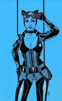 Catwoman (Blue) by AberrantKitty