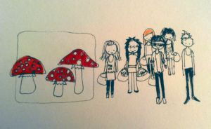 mushrooms by colour-full
