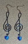 Music Lover Earrings by Kagar