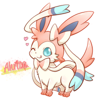 Sylveon Hearts - Render by Ahrita
