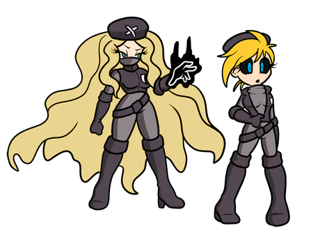 Plasma Caitlin and puppet Yellow by ChaosOverlordZ