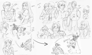 Hetalia - sketch dump thing by piku-chan