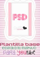 Plantilla Base PSD para Youtube by a-Sonrix