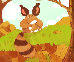 Sentret:Speed paint by Teatime-Rabbit