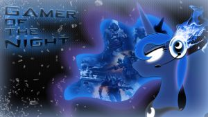 Gamer of the Night: Wallpaper by DangerCloseArt