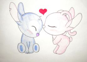 stitch y angel chibi by kary22