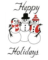 Snowmen Holiday Card by Patches614